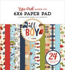 """New Echo Park 6""""x6"""" Paper Pad All Boy"""