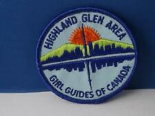 GIRL GUIDES CANADA PATCH HIGHLAND GLEN AREA COLLECTOR BADGE