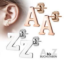1 Paar Ohrstecker Ohrringe Stud Buchstaben Alphabet Edelstahl A- Z