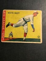 1933 Goudey #60 Waite Hoyt RC HOF G+/VG Pittsburgh Pirates