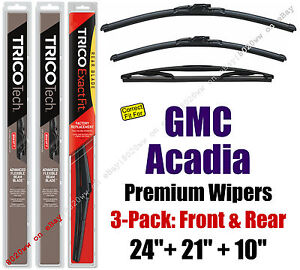 Wipers 3pk Premium Front Special Rear fit 2007-2012 GMC Acadia - 19240/210/10E