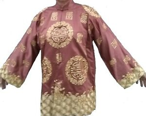 Rare, Beautiful, Vintage Chinese Embroidered Silk Satin Jacket