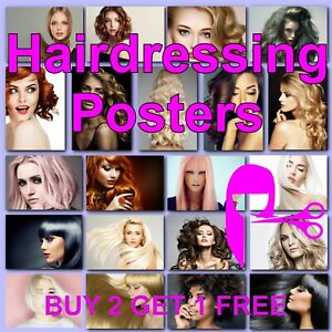 Hairdresser Poster Hairdressing Posters Womens Salon Hair Styles Prints Photo HD
