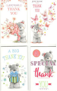 Pack Of 8 Thank You Notelets With Envelopes Cute Design Add Your Special Message