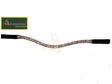 RUMANI Premium Leather Horse DESIGNER BROWBAND Bling Decoration - Diamante Chain