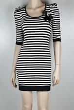 BARDOT Cropped Sleeve Striped Dress Sz 6 - Buy Any 5 Items = FREE POST #839