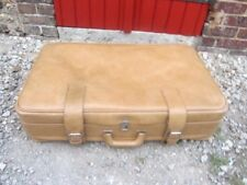 GRANDE VALISE SOUPLE SKAÏ MARRON  ANNEES 60/70 VINTAGE SUIT CASE