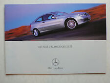 Prospekt Mercedes C-Klasse Sportcoupe CL 203, 8.2000, 28 Seiten