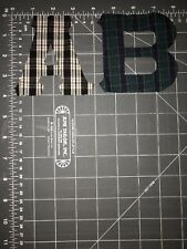 AB A B A.B. BA B.A. Patch Tackle Twill Plaid Letters Initials Iron On 2 Patches