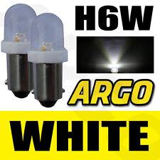 H6W LED XENON SUPER WHITE REAR INDICATOR BULBS 433 BAX9S BENELLI TreK 1130 91