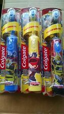 COLGATE KIDS POWER TOOTHBRUSH TRANSFORMERS  3 PACK YELLOW,BLUE,BLACK
