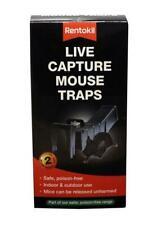 More details for pack of 2 rentokil live capture mouse traps