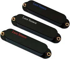 Lace 21063 Sensor Plus Blue/Silver/Red 3 Single Coil Strat Guitar Pickups, Black