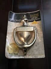 "Baldwin 3"" x 6"" Colonial Brass Door Knocker"