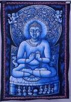 Blue Batik Lord Buddha Tapestry Cotton Poster Bohemian Home Decor Wall Hanging