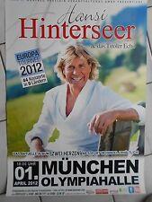 HANSI HINTERSEER  2012 MÜNCHEN   orig.Concert-Konzert-Tour- Poster  DIN A1 .