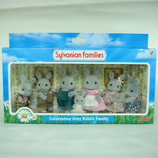 Sylvanian Families Celebration Grey Rabbit Family (Flair) - NEW