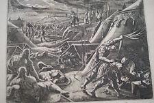 GRAVURE SUR CUIVRE DAVID EPARGNE SAUL-BIBLE 1670 LEMAISTRE DE SACY  (B89)