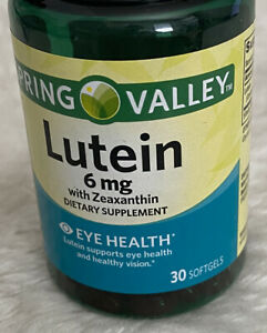 Spring Valley - Lutein with Zeaxanthin Softgels - 6 mg - 30 Ct - Eye Health
