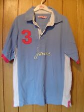 Joules Ladies Blue Polo Top Size S Small (Ref P) Ex Con