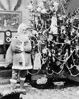 Внешний вид - ANTIQUE SANTA CLAUS & CHRISTMAS TREE 1897 8x10 SILVER HALIDE PHOTO PRINT