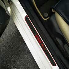 For TRD Accessories Car Door Scuff Sill Cover Panel Step Protector Red Trims X4