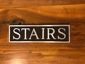 Stairs Aluminum Metal Public Door or Wall Sign