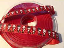 22mm width Grosgrain Sports Ribbon by the Metre or 22.8m Roll