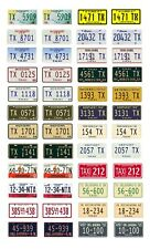 1/25 1/24 scale model car assorted USA taxi cab license plates tags 1:25