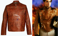 Men's Cliff Secord The Rocketeer Billy Campbell Tan Brown Real Leather Jacket