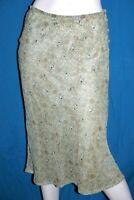 COMPTOIR DES COTONNIERS Taille 40 Superbe jupe doublée vert gris polyester skirt
