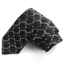 "GEOFFREY BEENE 100% Silk Neck Tie Green Black Gray 60"" Long 3.75"" Wide"