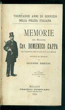 ARRIGHI GIOVANNI MEMORIE NUOVE MEMORIE DEL MAGGIORE DOMENICO CAPPA DUMOLARD 1892