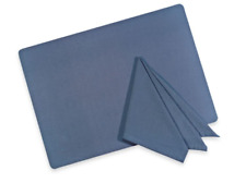 """Tuscan Solid Square Napkins (Pack of 4) 17"""" in Blue"""