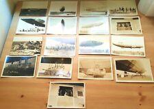 Lot of 16 Orig Vtg 1919 Photos R34 BRITISH AiRSHiP Record Breaking WW1 Zeppelin