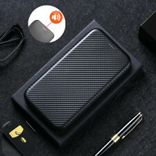 For Alcatel 1SE (2020) 5030 Flip Carbon Fiber Stand Leather Wallet Case Cover