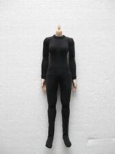 1:6 Scale Female Black Tight Leotard Slim Stretch Clothing Style D F 12'' Figure
