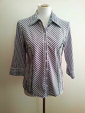 Smart Casual! Gordon Smith size 8 grey striped shirt in excellent condition