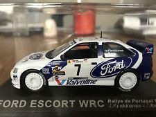 1:43 FORD ESCORT WRC Rally Auto #7 Kankkunen è Repo Portogallo 1998 DeAgostini Ixo