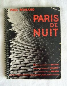 Brassai   PARIS DE NUIT   First Edition  Original wrappers Paul Morand  Roth 101