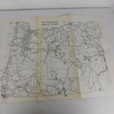 Rockhounds Map of Oregon J R Rodgers 1969 Agate Jasper Thundereggs Obsidian Wood