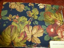 RALPH LAUREN New WENTWORTH FLORAL NAVY cotton 4 pieces large samples fabric