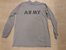 ARMY MENS LONG SLEEVE SHIRT SIZE LARGE POLYESTER