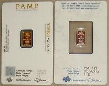 1 G PAMP SUISSE .9995 PLATINUM LADY FORTUNA BAR 10 PIECE ALASKAN PURE GOLD NUGS