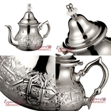 ESSENCE OF MOROCCO Moroccan Silver Teapot with Handle Cover and Integrated Filte