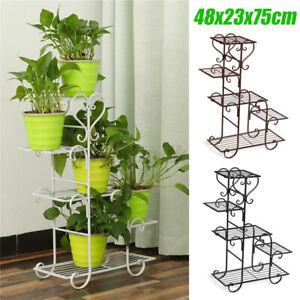 6-Tier Metal Flower Pot Plant Stand Floor-standing Multilayer Shelf Rack