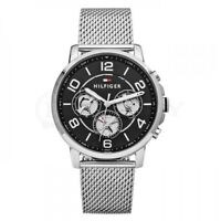 BRAND NEW TOMMY HILFIGER  STAINLESS STEEL SILVER MESH STRAP MEN WATCH 1791292