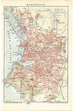 Landkarte city map 1902: Stadtplan MARSEILLE. Süd-Frankreich france Europa