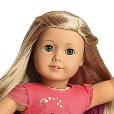 """American Girl Isabelle 18"""" Doll of the Year 2014 Pink Highlights & Book - Dancer"""