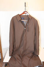 Turnbury Trench Coat Chocolate Brown SZ 46L Zip Lining $290 Water Resistant NWT